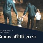 Bonus affitti 2020